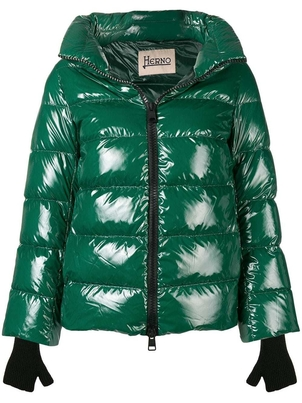 Herno Herno Green Gloss Coat Outerwear