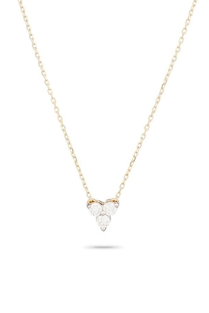 Adina Reyter Diamond Cluster Necklace in Yellow Gold Jewelry