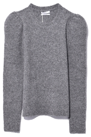 Co Puffed Shoulder Sweater in Grey Tops