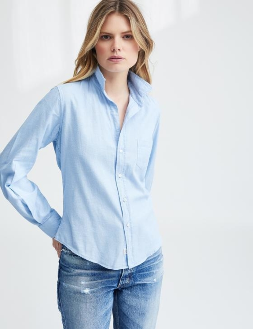 Frank & Eileen Barry - Super Soft Sky Blue Italian Flannel Tops