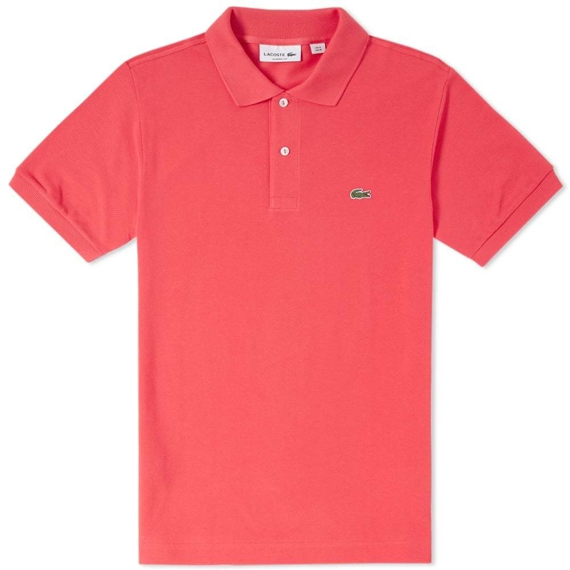 Lacoste Classic Fit Polo in Sirop Pink Tops