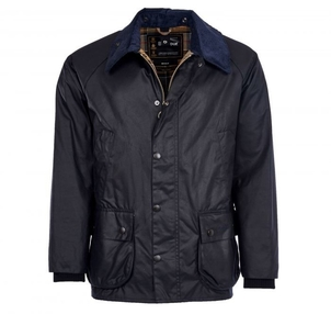 Barbour Bedale Wax Jacket in Navy Men's