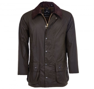 Barbour Beaufort Wax Jacket in Olive Men's