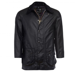 Barbour Beaufort Wax Jacket in Navy Men's