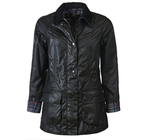 Barbour Ladies Beadnell Wax Jacket in Black