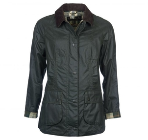 Barbour Ladies Beadnell Wax Jacket in Sage