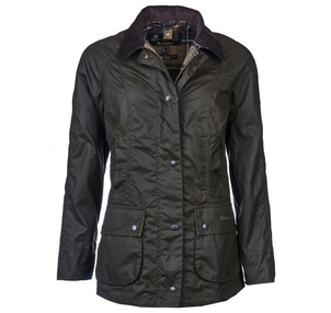 Barbour Ladies Beadnell Wax Jacket in Olive