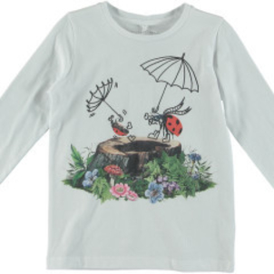 Stella McCartney Bella Girls LS Tee W Ladybugs Under Umbrella