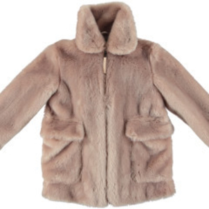 Stella McCartney Carolyn Girls Faux Fur Jacket W Bird Print