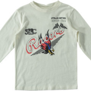 Stella McCartney Gene Kid Boy Racers Graphic LS Tee