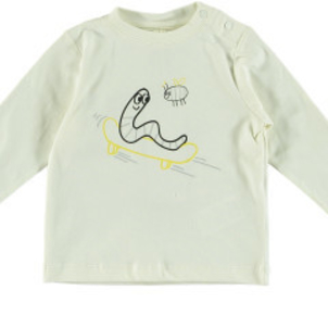 Stella McCartney Georgie Baby Boy LS Worm Graphic Tee