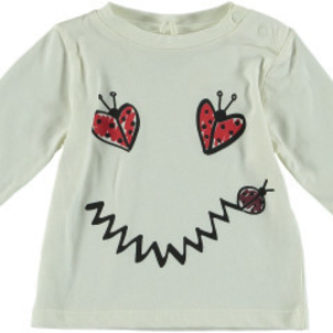 Stella McCartney Georgie Baby Girl Long Sleeve Lady Bug Smiley Tee