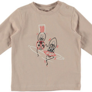 Stella McCartney Georgie Baby Girl LS Tee W Dancing Ladybugs
