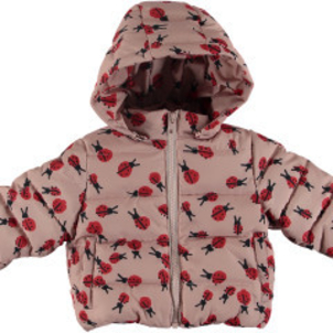 Stella McCartney Hubert Baby Girl Ladybug Print Puffer Jacket