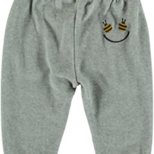 Stella McCartney Jago Baby Boy Velour Sweatpants W Bee Pockets