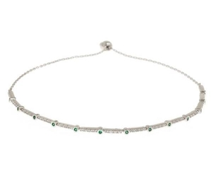 Theia Emerald CZ Micropave Bracelet (+More Finishes) Jewelry