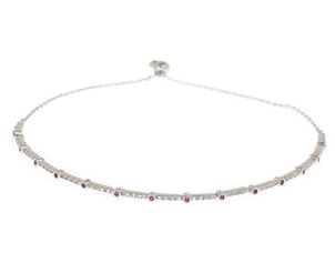Theia Ruby CZ Micropave Bracelet (+More Finishes) Jewelry