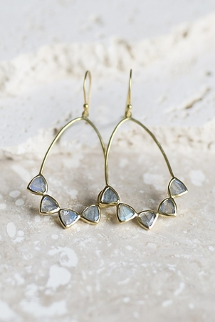 Joya Becca Earrings - Labradorite Jewelry