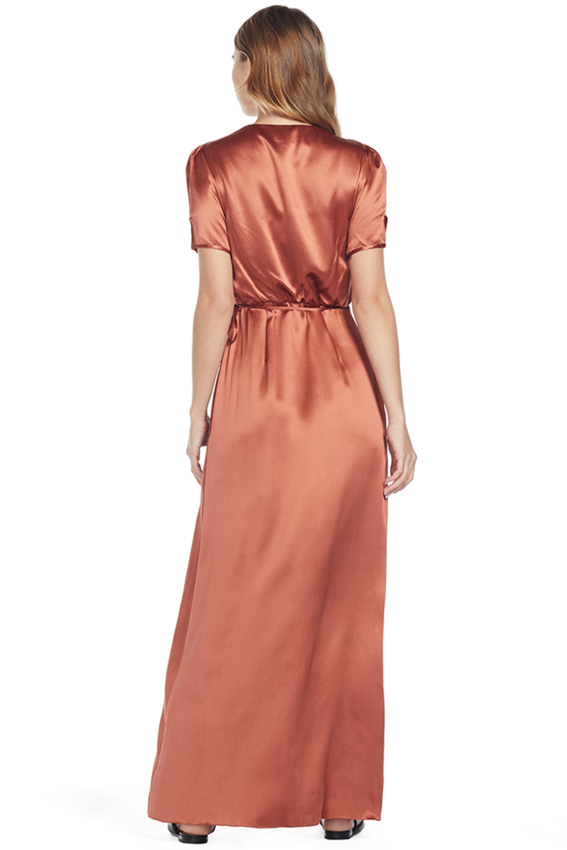 Saloni Lea Long Wrap Dress Dresses