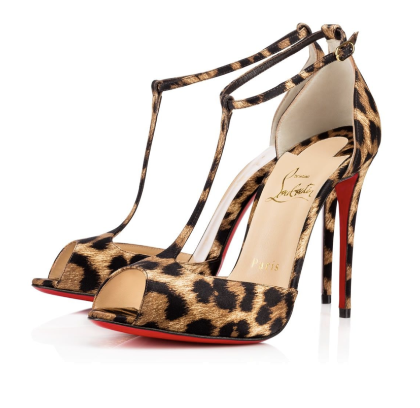 Christian Louboutin Senora 100 mm Strappy - Leopard Shoes