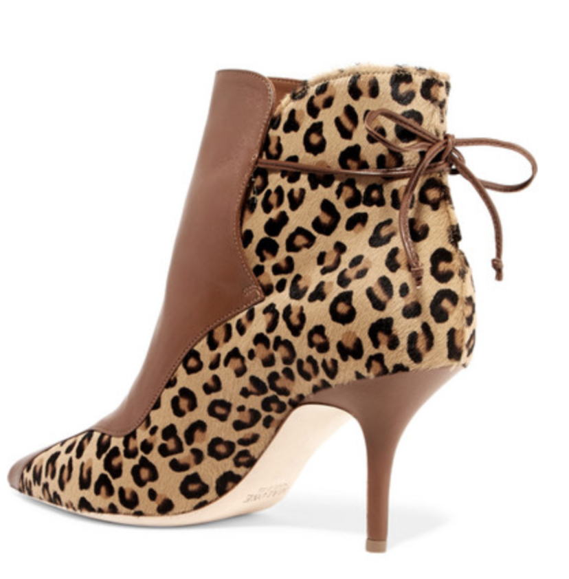 Malone Souliers by Roy Luwolt Jordan Leopard-Print Calf Hair and Leather Ankle Boots Shoes