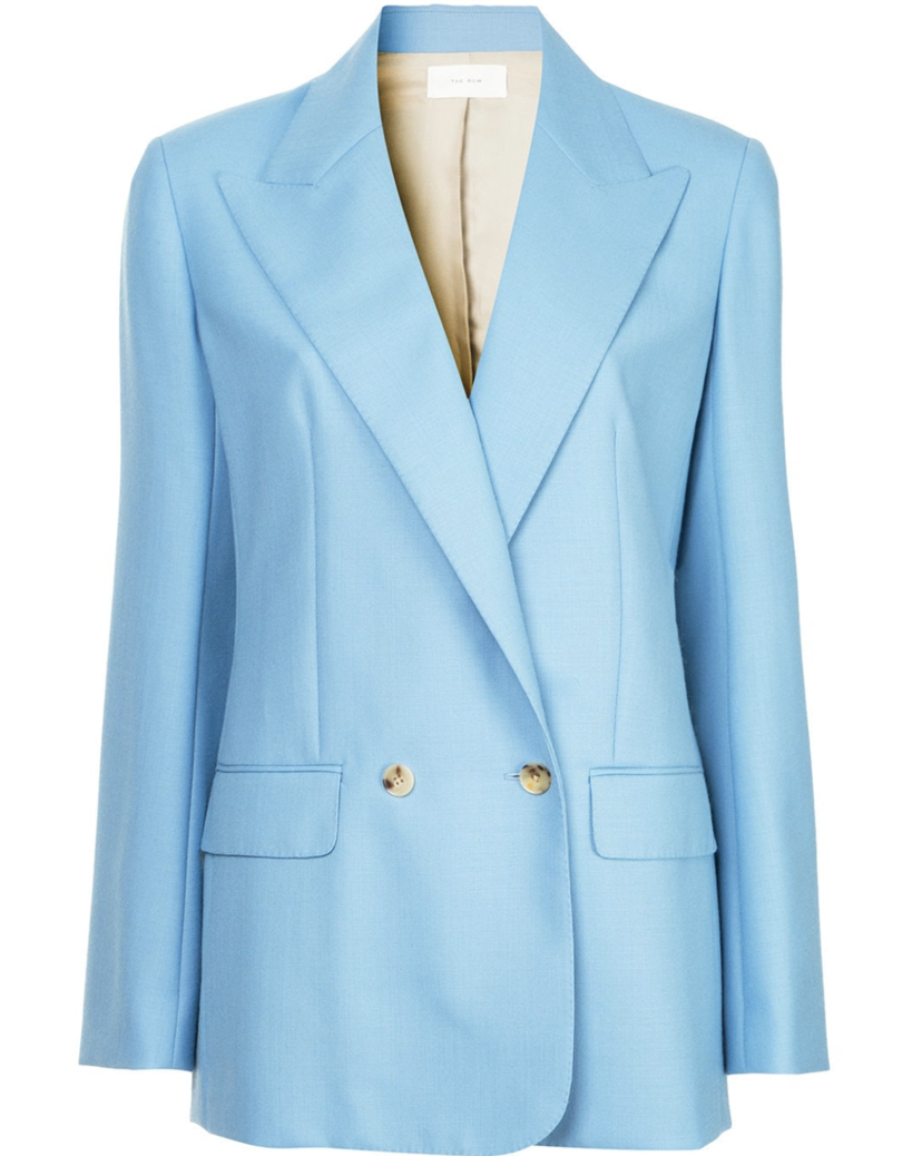 The Row Blue Suiting Jacket (Originally $2,190) Outerwear Sale