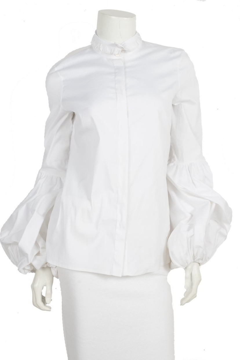 Carolin Constas Carolin Constas White Button Up Top Sz Medium Tops