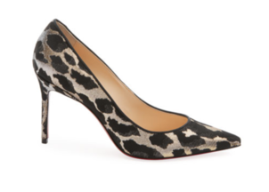 Christian Louboutin Decollette 554 85 mm Pump - Metallic Leopard Shoes