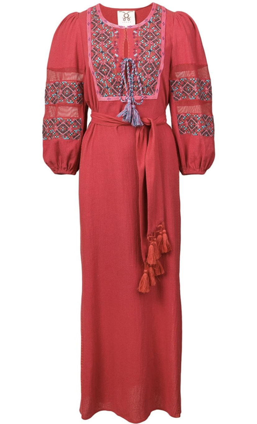 Figue Long Sleeve Embroidered Dress (Originally $795) Dresses Sale