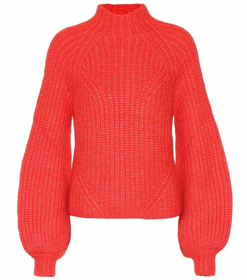 Ulla Johnson Micha Turtleneck - Crimson Tops