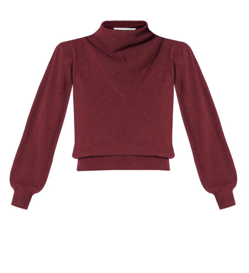 Veronica Beard Lilla Sweater - Bordeaux Tops