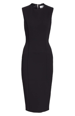 Victoria Beckham Curve Seam Fitted Dress Dresses