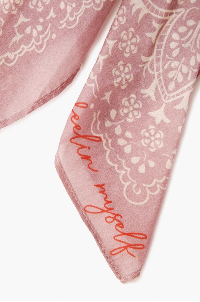 Chan Luu Breast Cancer Silk Hair Tie Accessories