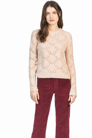 Leo & Sage Diamond Stitch Sweater Tops