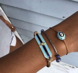 Theodosia Jewelry Blue arm party Jewelry