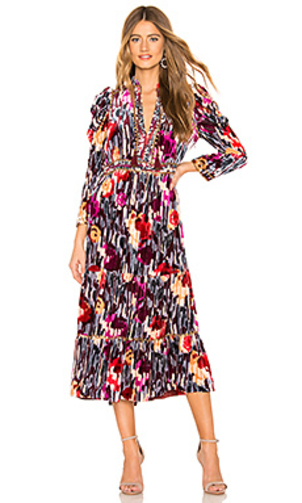 Ulla Johnson Ziggy Velvet Studded Dress - Disco Dresses
