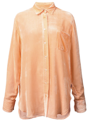 Sies Marjan Orange Velvet Shirt Tops
