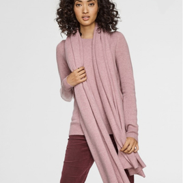 Ash Rose Heather Cashmere Travel Wrap
