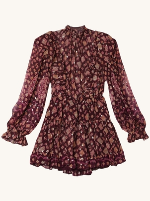 Ulla Johnson Vienne Lurex Dress - Bordeaux Dresses