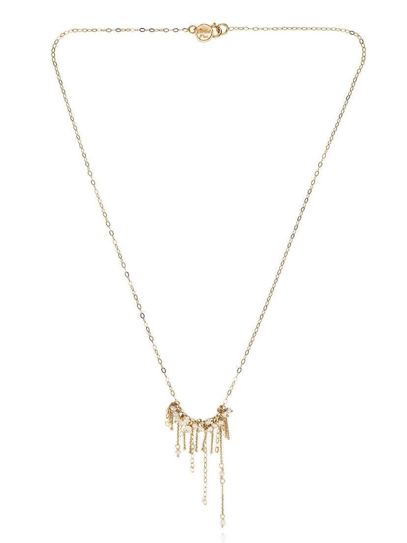 Sweet Pea Sweet Pea Seed Pearl Flapper Necklace - Yellow Gold Jewelry