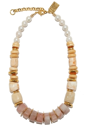 Lizzie Fortunato Pink Sands Necklace Jewelry