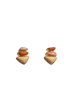 Lizzie Fortunato Triple Sunset Studs Jewelry