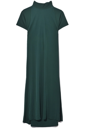 Rosetta Getty Tie Neck Drape Back Dress in Pine Dresses