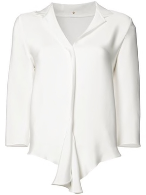 Peter Cohen Peter Cohen Heavy Satin White Blouse Tops