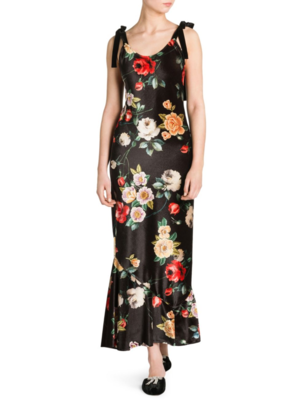Attico Velvet Floral Dress Dresses Skirts