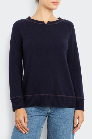 Inhabit Cashmere Split Trim Sweatshirt Tops