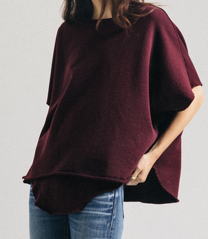 Frank & Eileen Red Capelet Tops