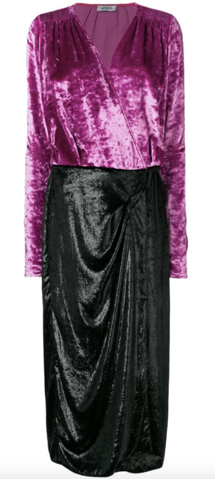 Attico Color Block Velvet Midi Dress Dresses Skirts