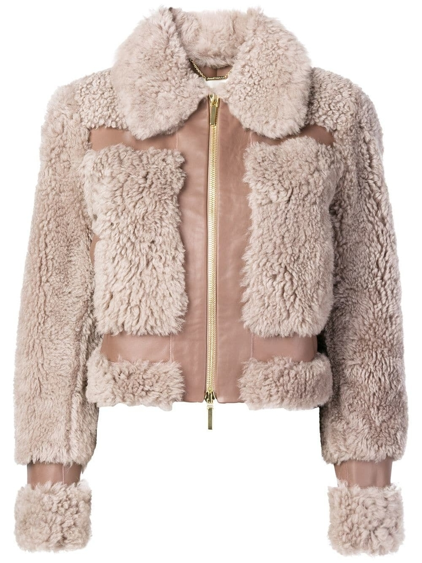 Zimmermann Lilac Shearling Jacket Outerwear