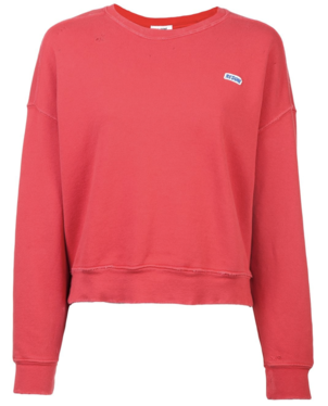 RE/DONE Red Crewneck Pullover Activewear Tops